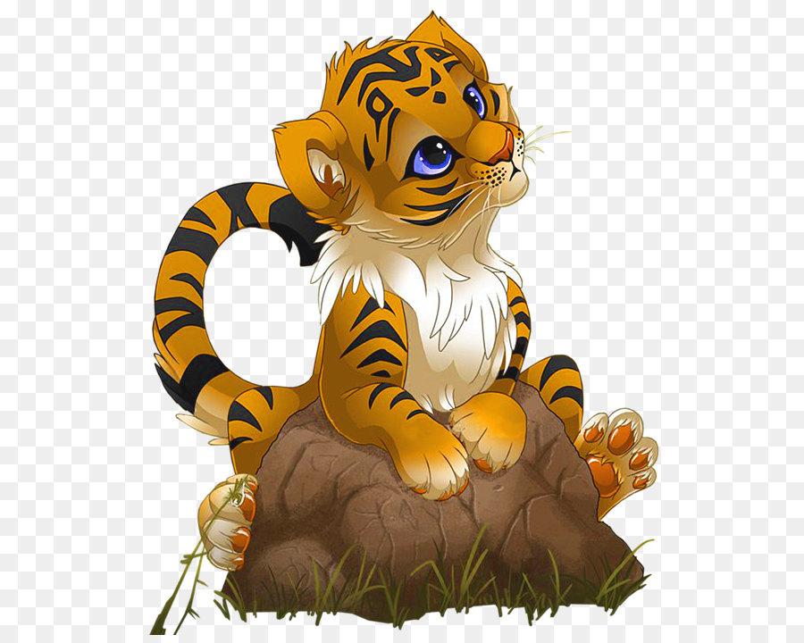 Tiger Cartoon png download - 617*711 - Free Transparent ...
