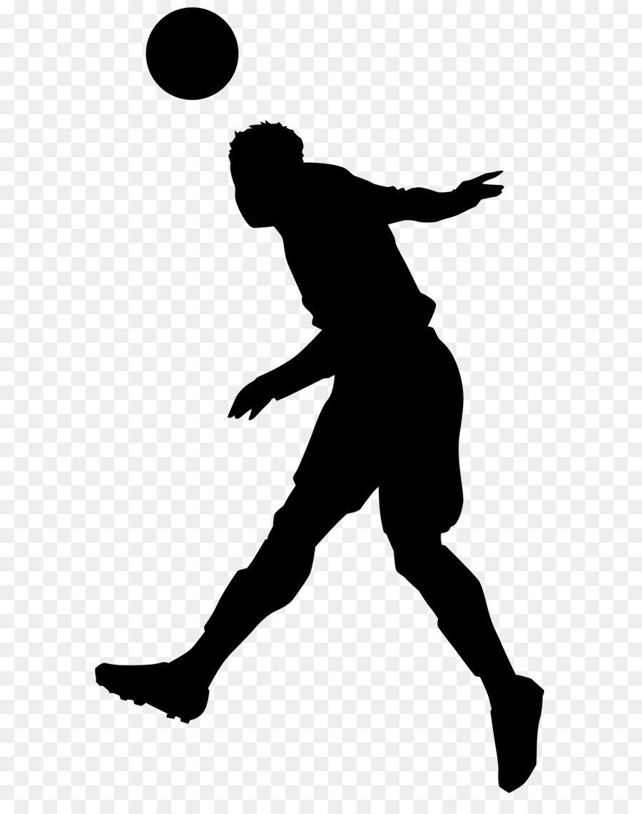 Fussball Silhouette Abbildung Clip Art Fussballer