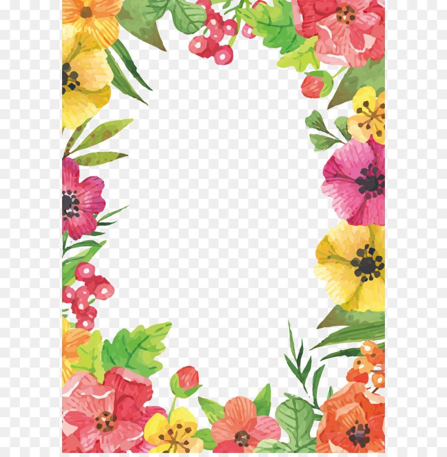 Floral Pattern Frame Png Download 909 1276 Free Transparent