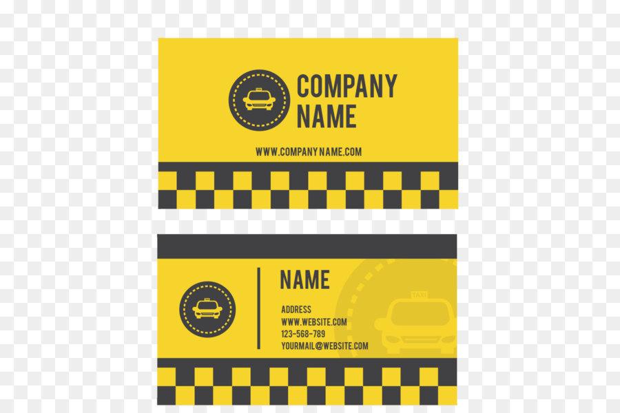 Taxi Fahrer Visitenkarte Yellow Cab Taxi Fahrer Gelb