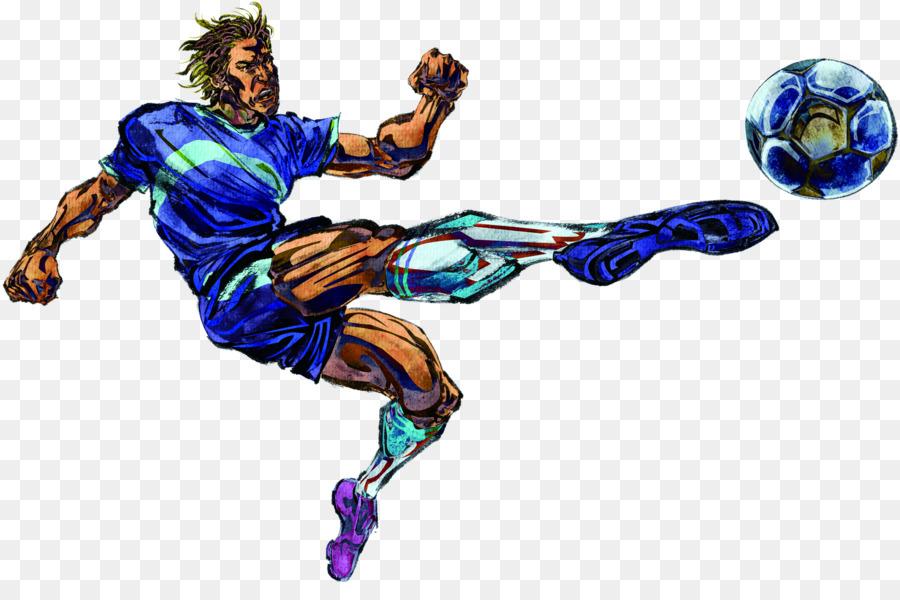 Fifa Fussball Wm Poster Hand Gezeichnet Illustration Blau