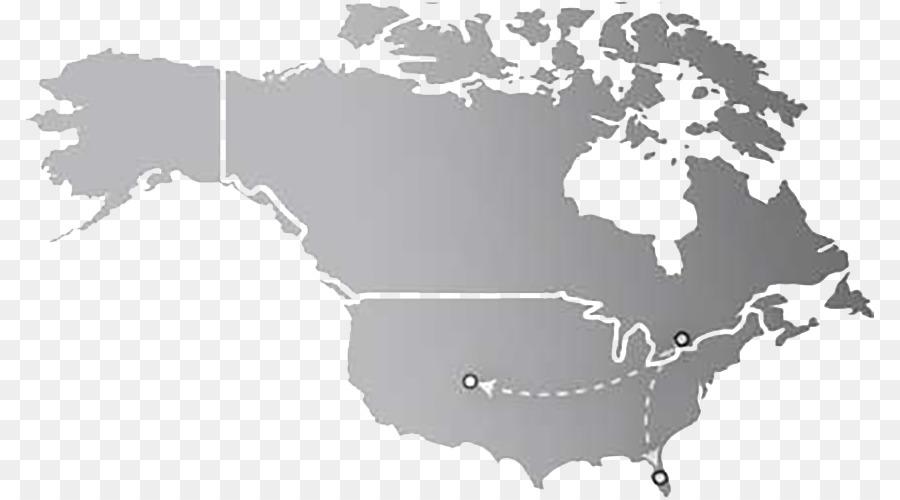 Vereinigte Staaten Kanada Sudamerika Weltkarte Flugzeug Gray