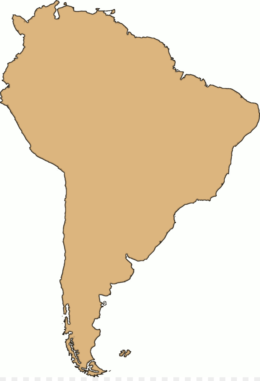 United States South America Leere map Clip art - Amerika ...