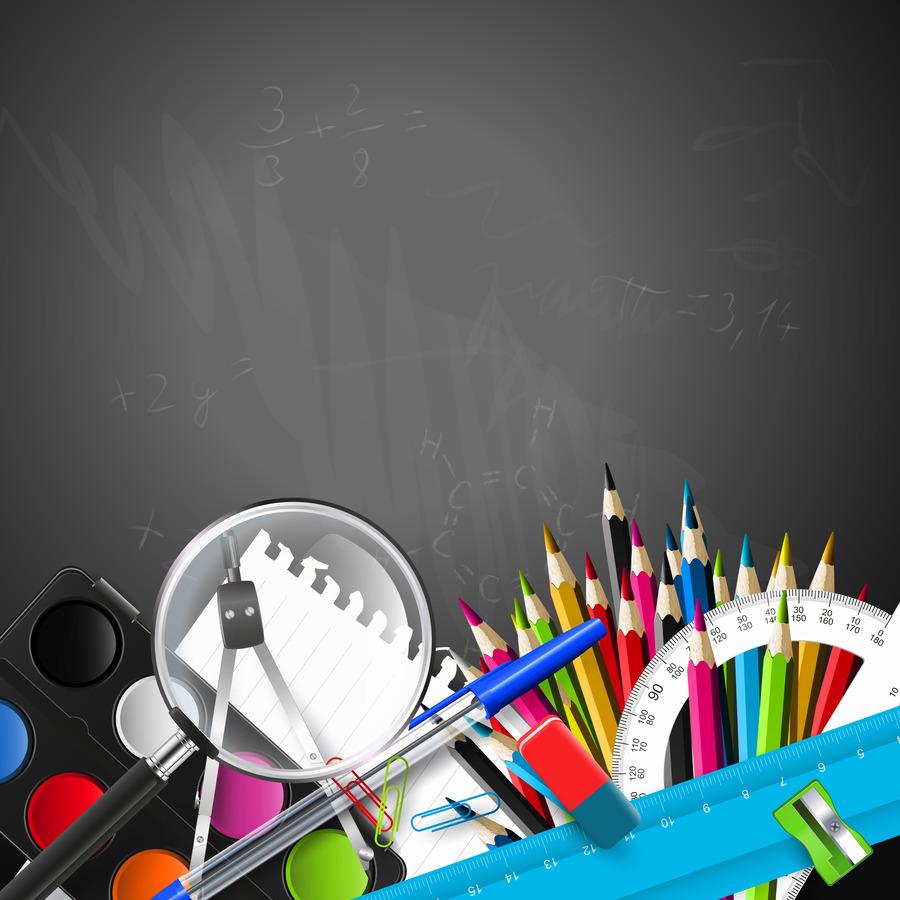 Carta Da Parati Nera primo giorno di scuola, studente, insegnante di carta da