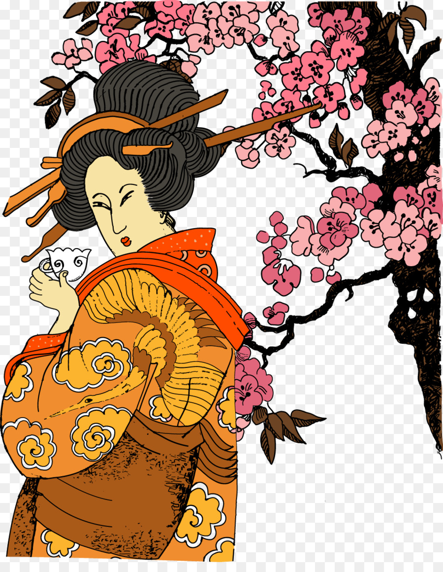 Top Giappone Geisha Jidai Matsuri - Geisha giapponese scaricare png OH47