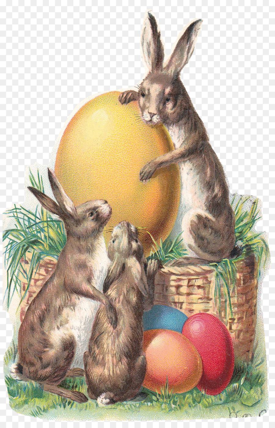 Винтажные открытки кролики