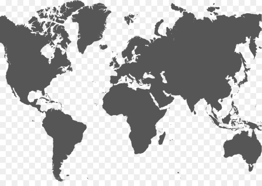 World map Globe Drucken - World map silhouette png ...