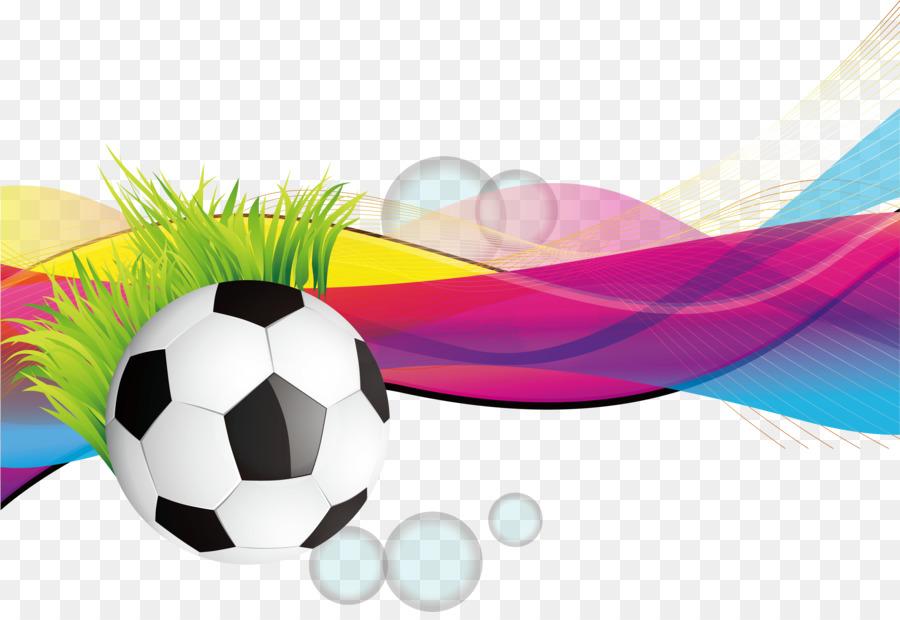 Grafik Design Plakat Fussball Bunte Gestreifte Fussball