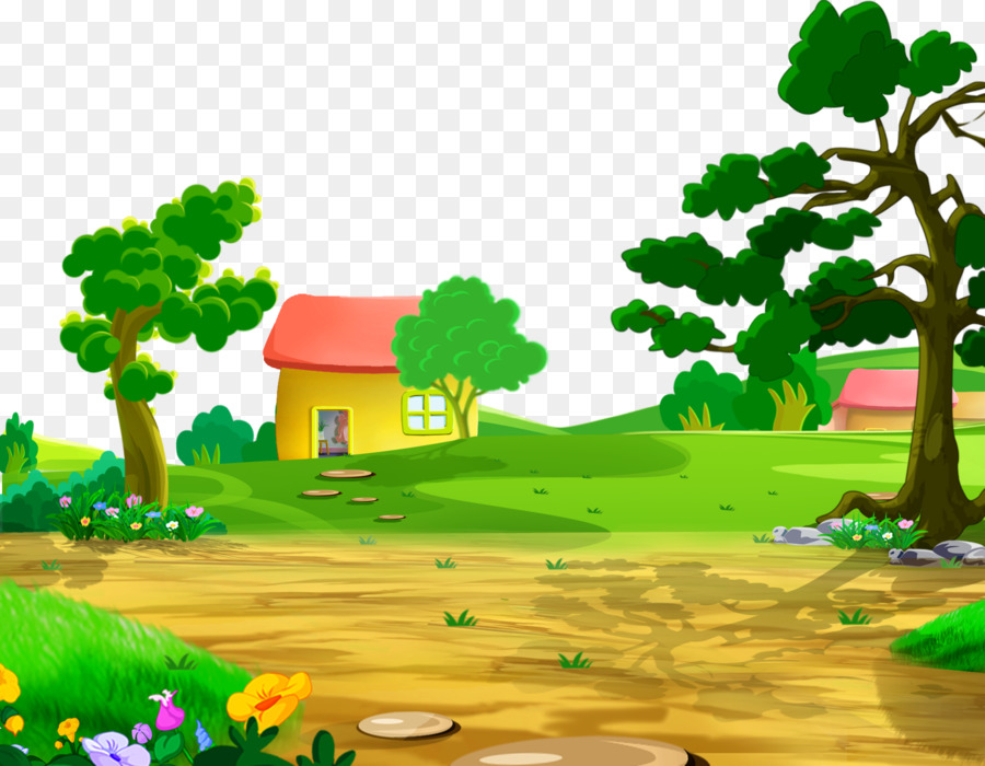 Cartoon Nature Background png download - 1800*1400 - Free