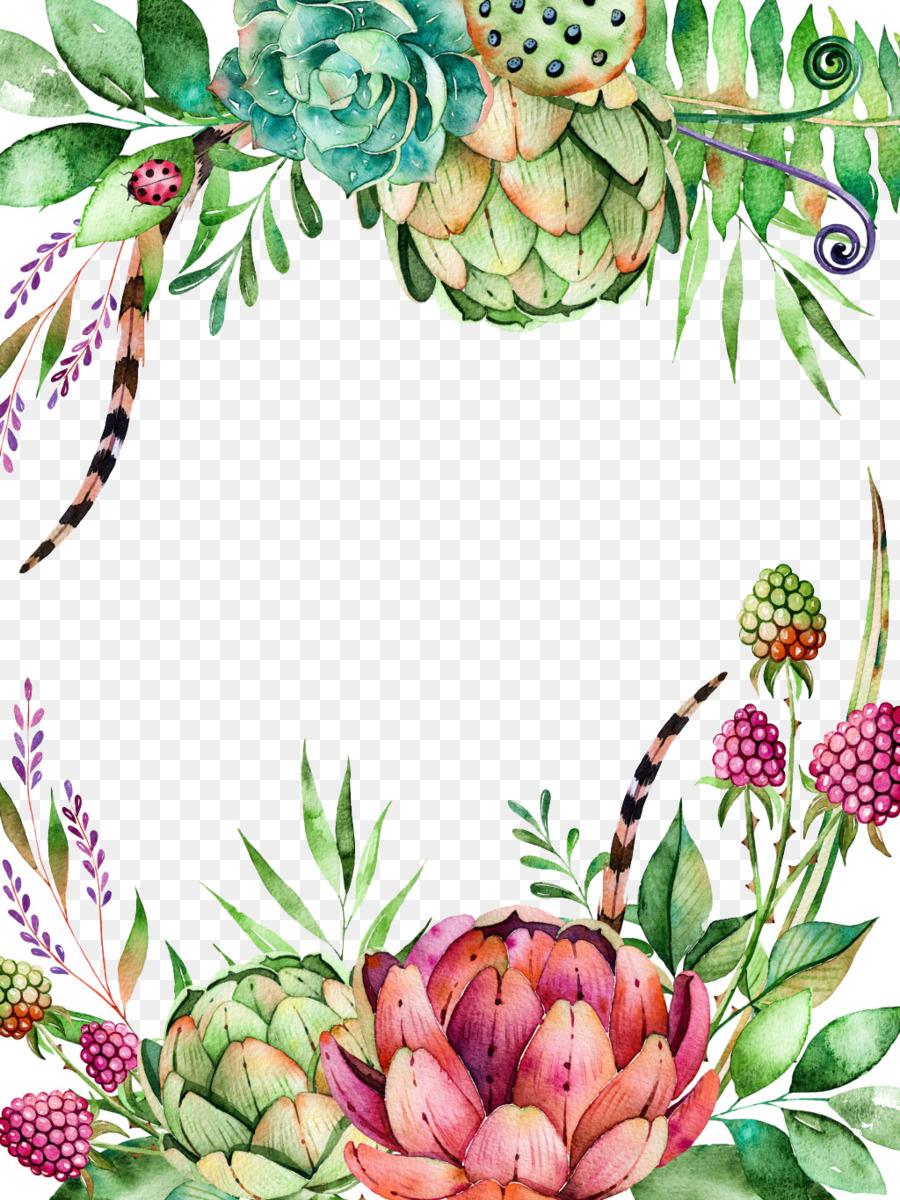 Watercolor Floral Background Png Download 1024 1365 Free Transparent Echeveria Elegans Png Download Cleanpng Kisspng