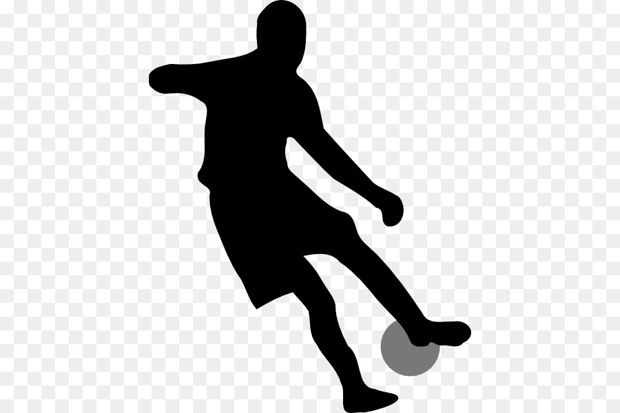 Fussball Spieler Silhouette Clip Art Animierte