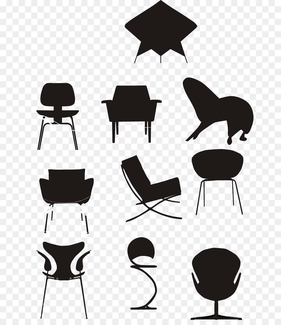Tabelle Burostuhl Schwarz Skizze Stuhl Png Herunterladen