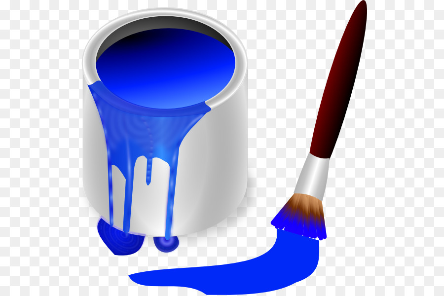 Paint bucket and a brush. vector black and white coloring page. Paint can  and a paint brush. vector black and white