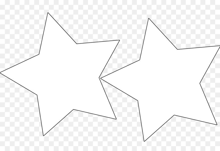 Weißes Winkel Bereich Muster Stern Vorlage Groß Png