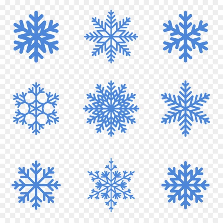 Nahtloses Schneeflocken Muster Vektor Abbildung 3