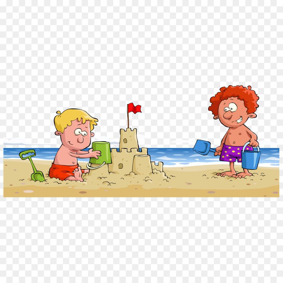 35+ Terbaik Untuk Gambar Anak Bermain Di Pantai Kartun ...