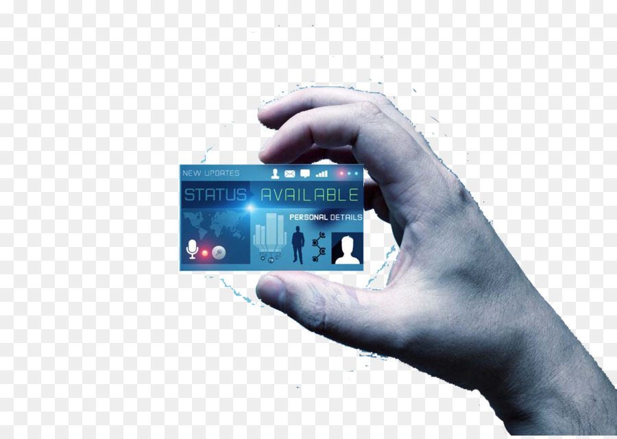 Papier Visitenkarte Digital Karte Show Blank Business Card