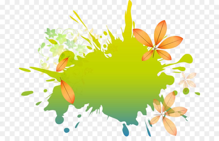 Visitenkarte Gratis Clip Art Bemalt Mit Grünem Hintergrund
