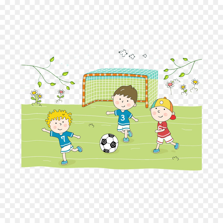 Kind Fussball Cartoon Sport Fussball Spielen Kinder Png