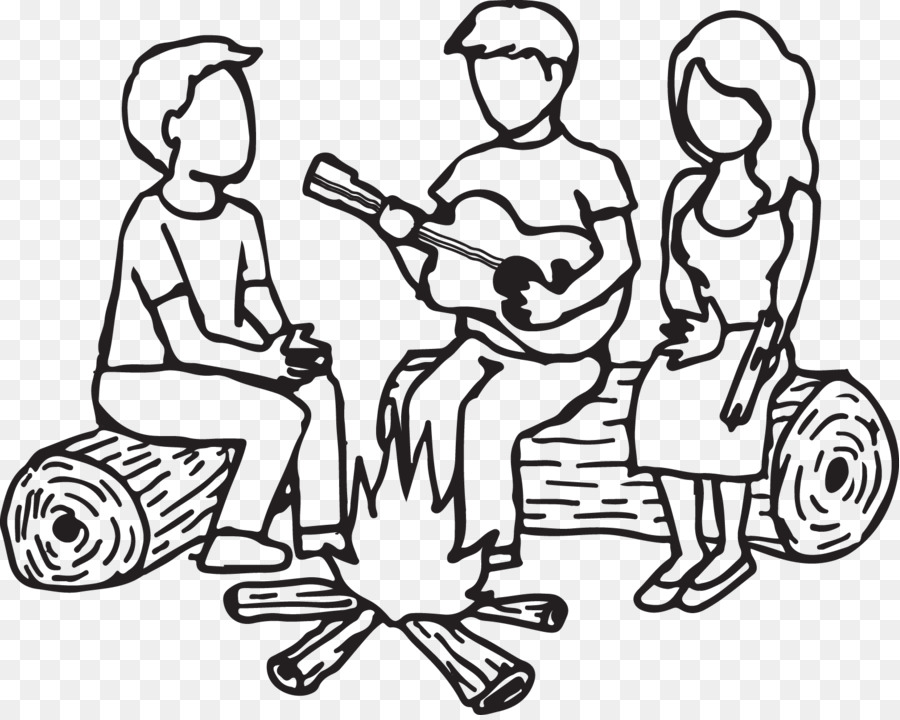 Campfire Clipart Fire Log - Bonfire Clip Art Black And White - Png Download  (#255965) - PinClipart