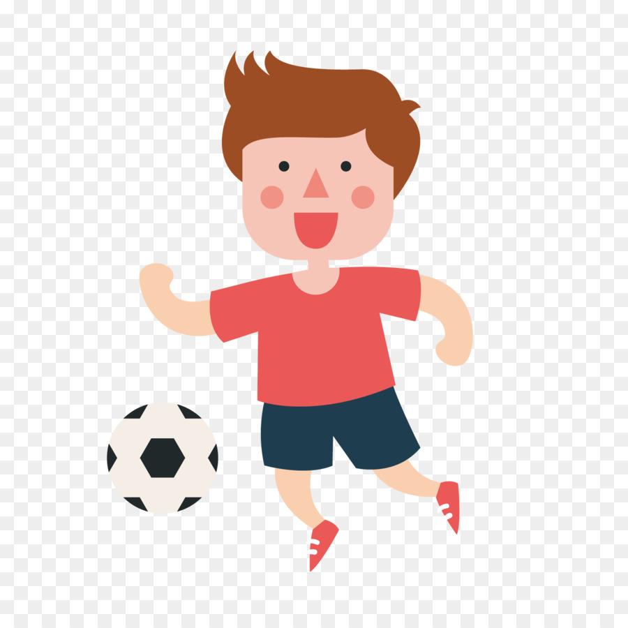 Kind Sport Abbildung Der Junge Spielt Fussball Png