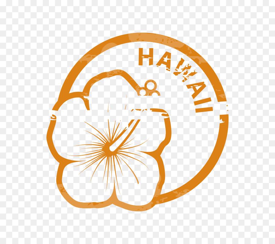 Hawaii Papier Gummi Stempel Visitenkarten Briefmarke