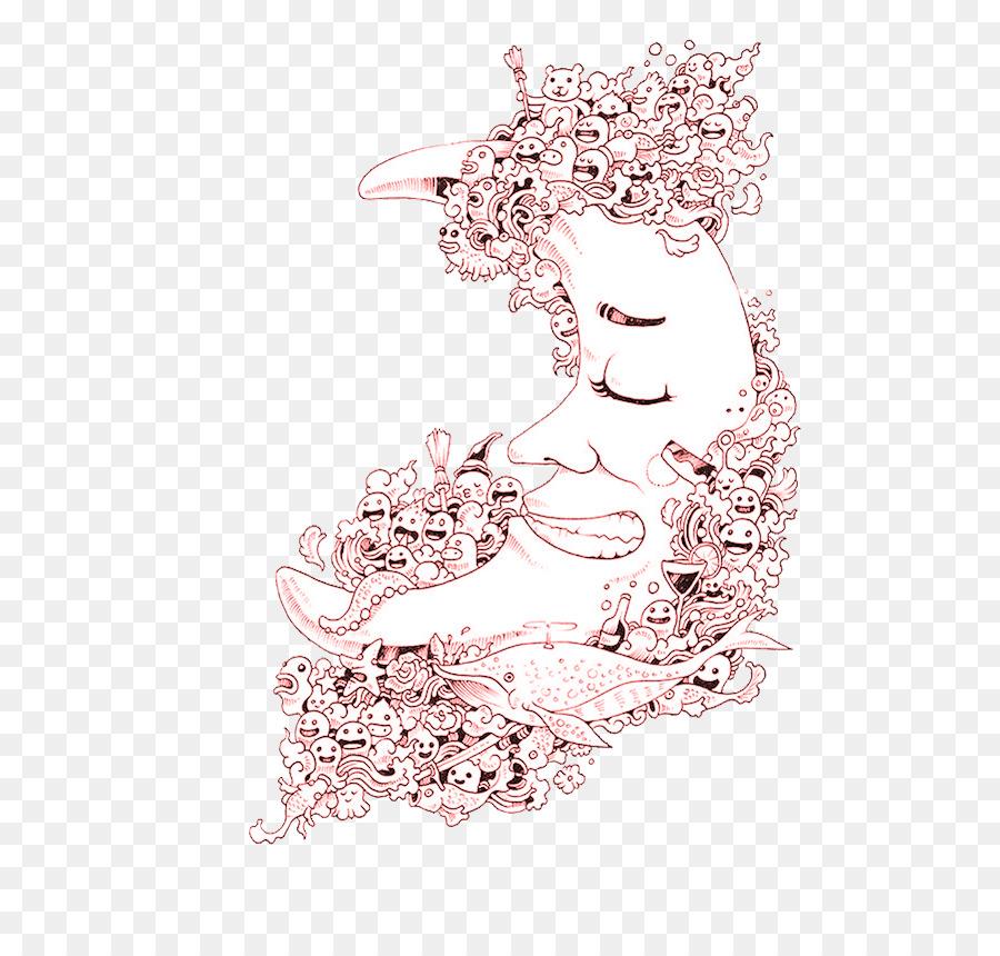 Flower Pink Png Download - 601*854 - Free Transparent Doodle Invasion  Zifflins Coloring Book Png Download. - CleanPNG / KissPNG