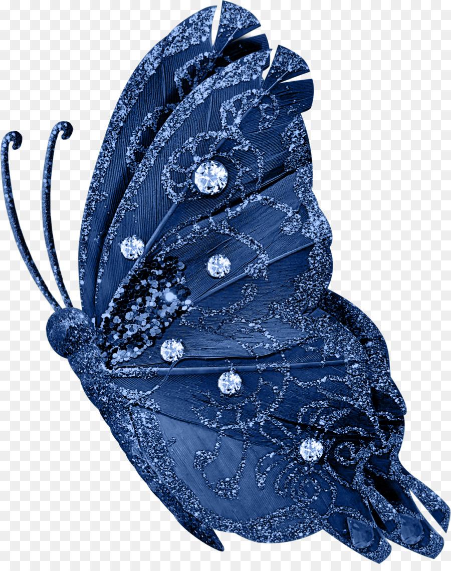 Beautiful Blue Butterfly Clip Art
