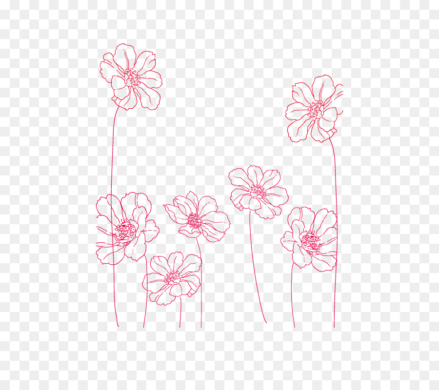 Flower Line Art Png Download 800 800 Free Transparent Drawing Png Download Cleanpng Kisspng