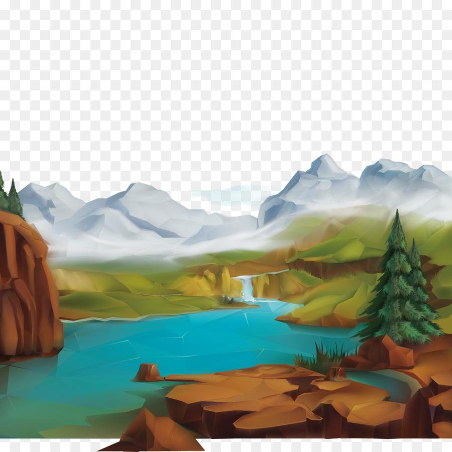 Paesaggio Di Montagna Disegno.Paesaggio Naturale Natura Illustrazione Neve Paesaggio Di