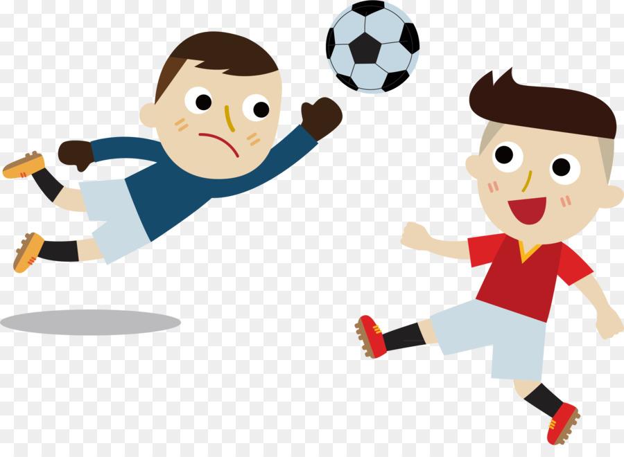 Fussball Cartoon Abbildung Kind Strafe Von Land Zu Land Png
