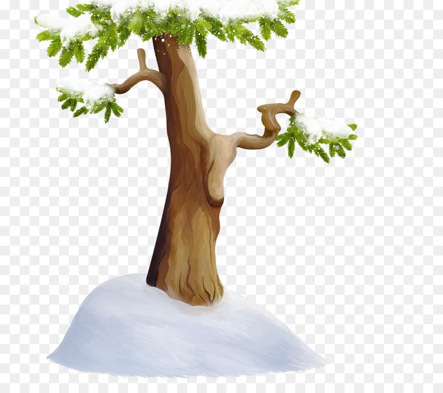 Baum Schnee Holz Hand Gemalt Baume Schnee Png Herunterladen