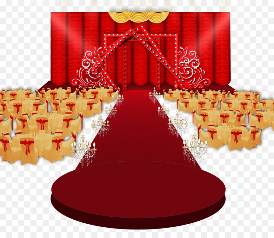 Goldrot Moderne Rot Goldene Hochzeit Png Herunterladen