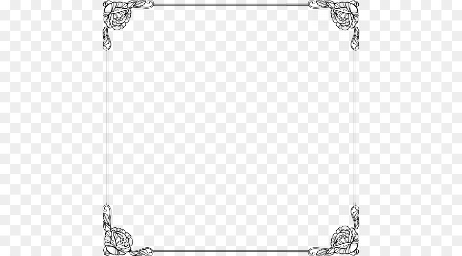 Black And White Frame Png Download 500 500 Free