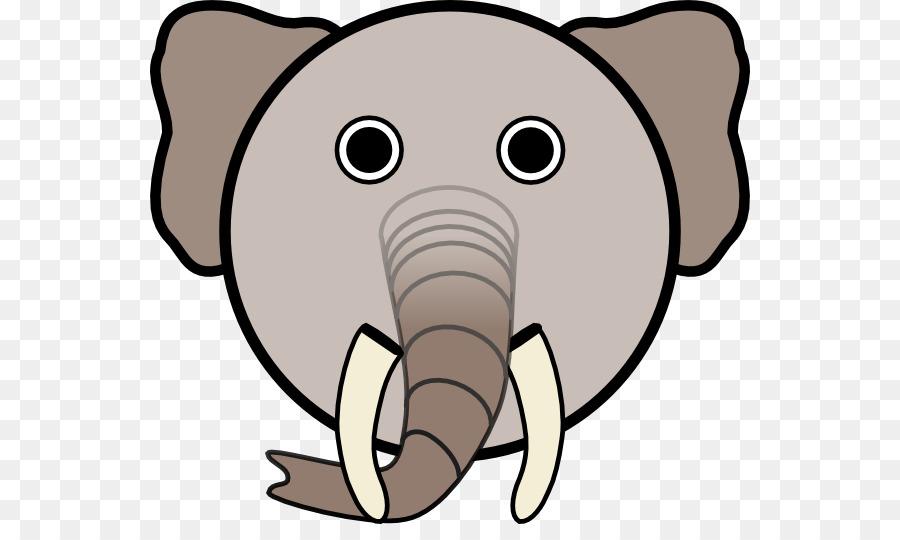Animale Faccia Clip Art Elephant Disegni Per Bambini Scaricare