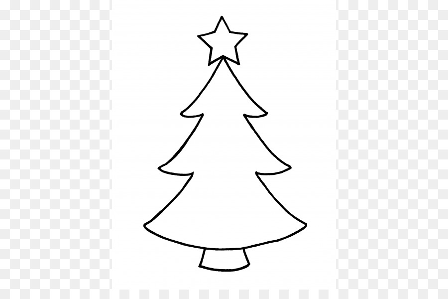Christmas Tree Outline.Christmas Tree Line Drawing Png Download 450 581 Free
