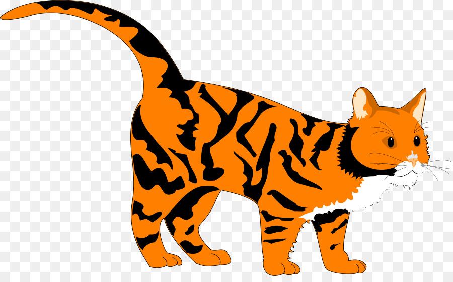 Gatto Tigre Libro Da Colorare Clipart Tiger Arte Di Vettore