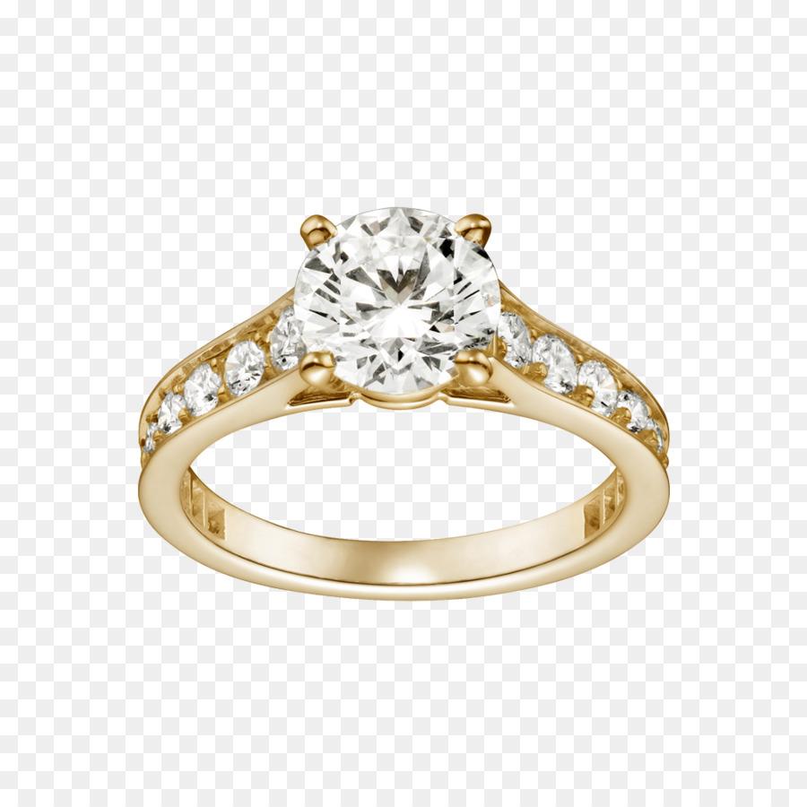 Verlobungsring Diamant Hochzeit Ring Gold Cartier Diamant