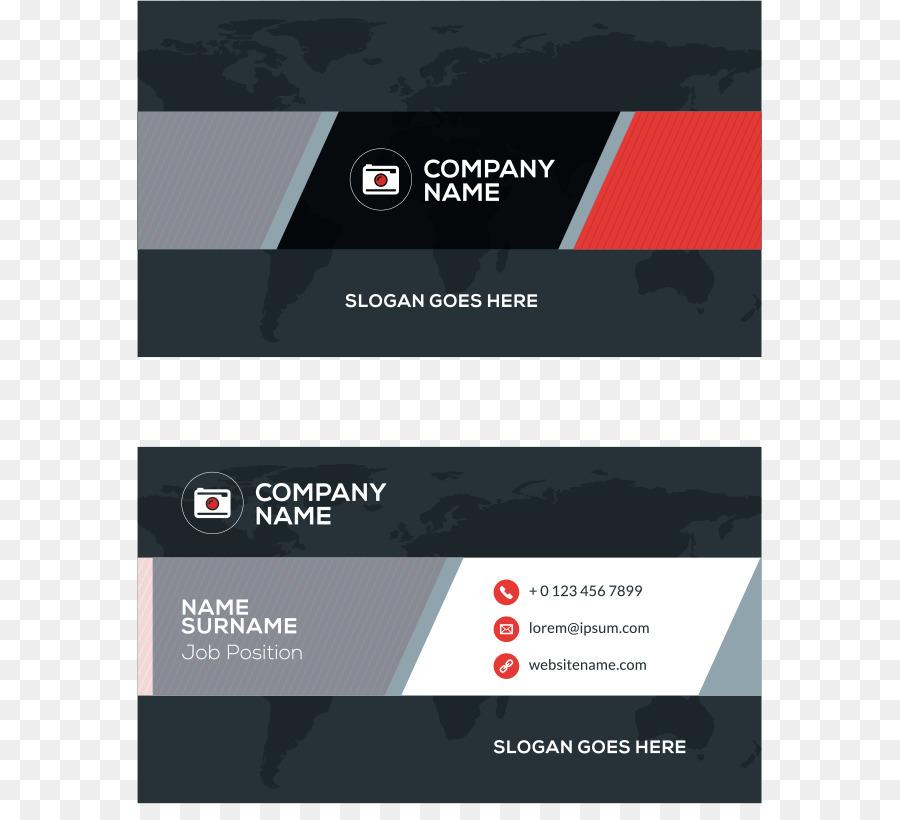 Visitenkarten Rot Vektor Roten Fleck Einfache