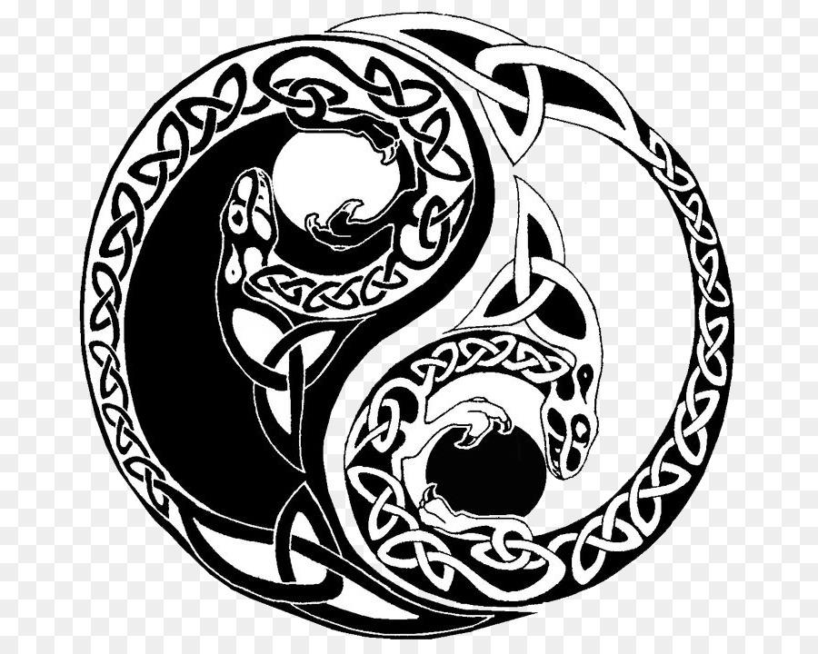 yin und yang bilder  vorlagen zum ausmalen gratis ausdrucken
