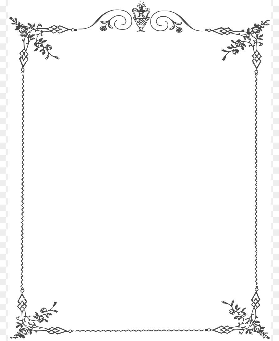 Cornici Disegno Bianco E Nero.Bordi E Cornici In Bianco E Nero Clip Art Elegante Bordi