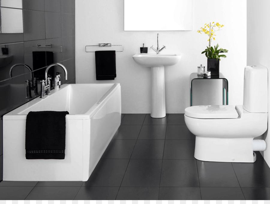 Badezimmer Fliesen Schwarz und weiß - Badewanne png ...