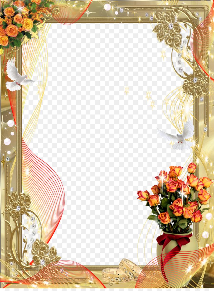 Wedding Floral Frame Png Download 1191 1600 Free Transparent Picture Frames Png Download Cleanpng Kisspng
