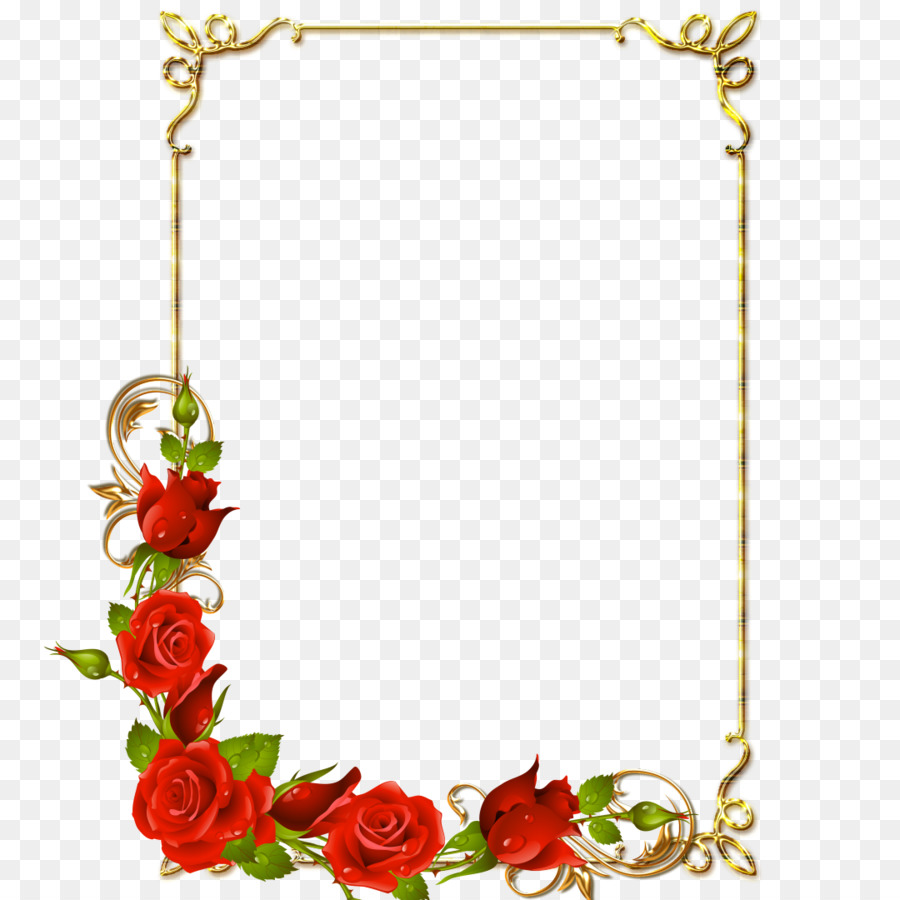 Border Design Flower Png Download 1080 1080 Free Transparent