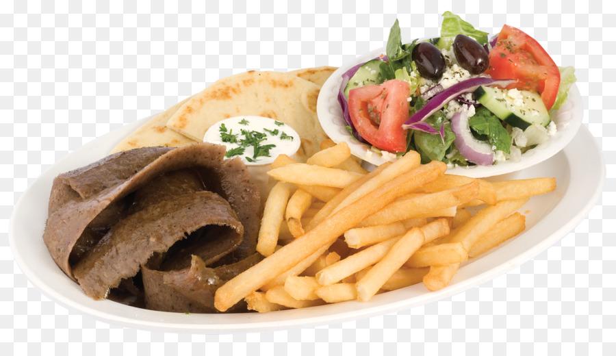 Gyro Shawarma Pommes Frites, mediterrane Küche, italienische ...