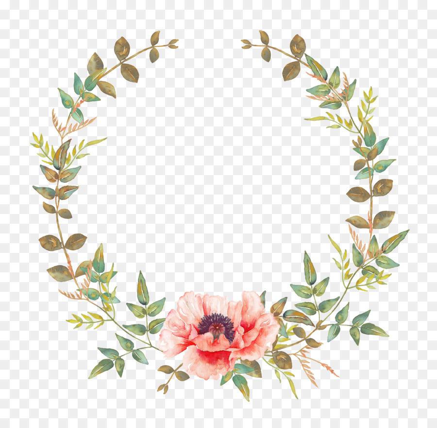 Flower Wreaths For Weddings: Floral Wedding Invitation Background Png Download