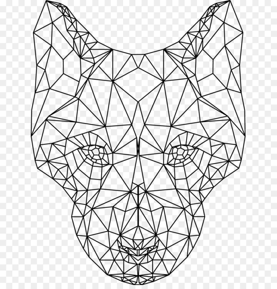 Disegni Geometrici Bianco E Nero cane gatto bianco e nero di geometria - geometriche