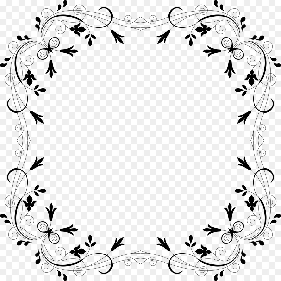 Vector Border Design Black And White Png