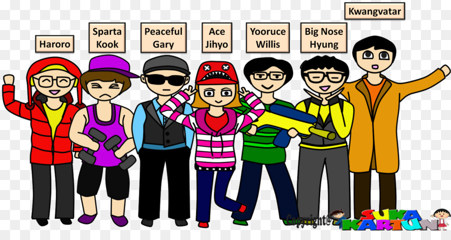 Korean Cartoon Png Download 1600 820 Free Transparent South