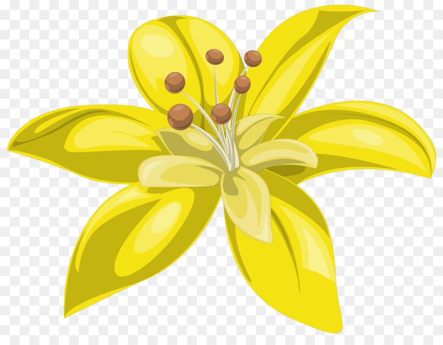 Fiori Gialli Png.Fiore Giallo Lilium Clip Art Fiori Gialli Scaricare Png
